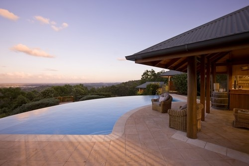 Peppers Ruffles Lodge & Spa, Gold Coast Hinterland: Immerse yourself in our heated outdoor infinity edge swimming pool where you can simply relax while taking in 180 degree panoramic views of the Gold Coast and beyond. http://www.peppers.com.au/ruffles-lodge/