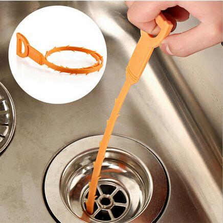 Urządzenie Pogłębiarka Rurociągu drenaż Rury Kanalizacyjne Czyste Hak Kuchnia Wc Pomarańczowy 51 cm Plastikowe Taśmy Narzędzie
