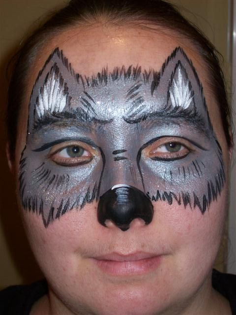 face painting wolf - Google Search