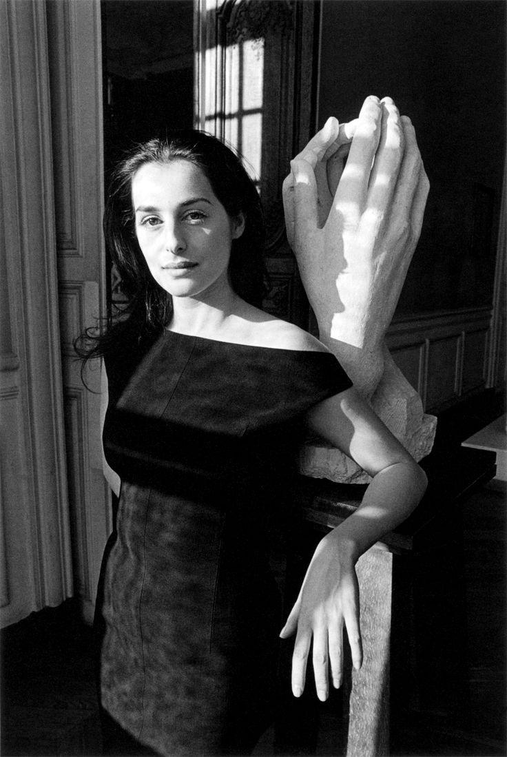 Amira Casar, photographed by Jeanloup Sieff forLe Monde, Musée Rodin, Paris, 1997.