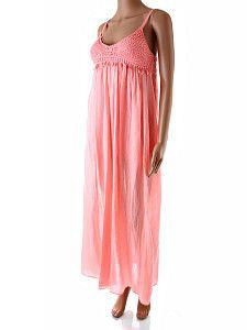 Dlhé ružové letné šaty Italia Moda  Dlhé voľné ružové letné šaty s krátkou spodničkou. Šaty majú vystužené košíky s háčkovaným hrudníkom. Vzadu majú šaty gumičky a voliteľnú dĺžku tenkých ramienok. Vhodné aj pre tehotné ženy. Materiál je čistá bavlna.  http://www.yolo.sk/saty/dlhe-ruzove-letne-saty-italia-moda