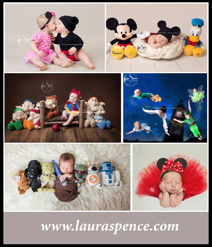 newborn, baby and children's disney photography. mickey and minnie, snow white, peter pan and star wars jedi. love a wee disney theme <3