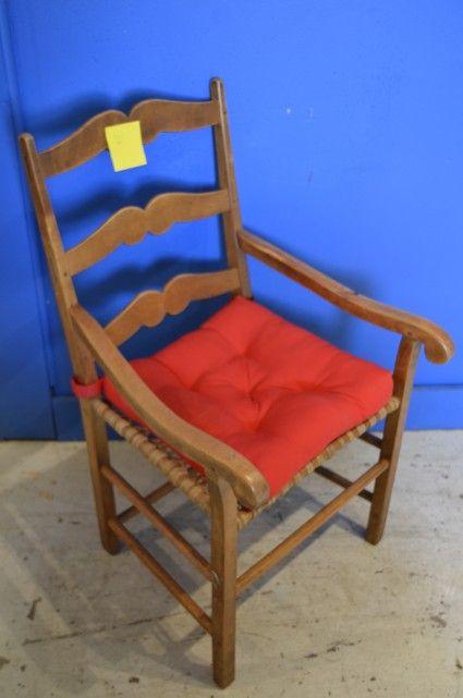 chaises en bois, siège rembourrés & appui bras