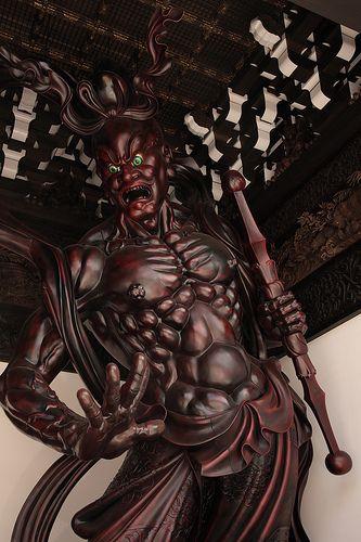 Buddhist statue 仏像 - 念佛宗(念仏宗無量寿寺) 山門 仁王像024