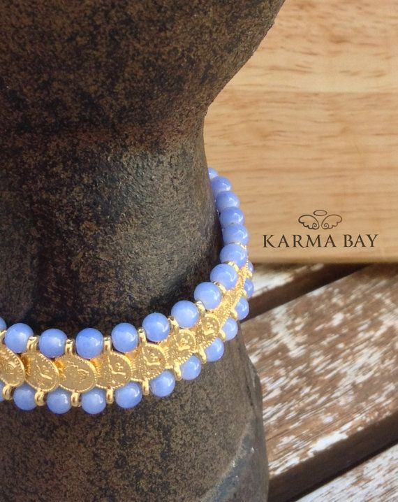 Beaded Coin #Bracelet by #KarmaBay on #Etsy #ArmCandy #KarmaBay #Fashion #Accessories #Jewellery #boho #ethnic