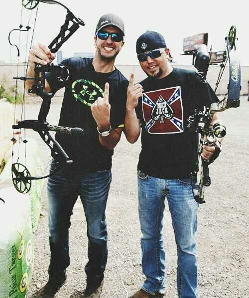 Luke Bryan & Jason Aldean. Makes me wanna be shooting my bow!