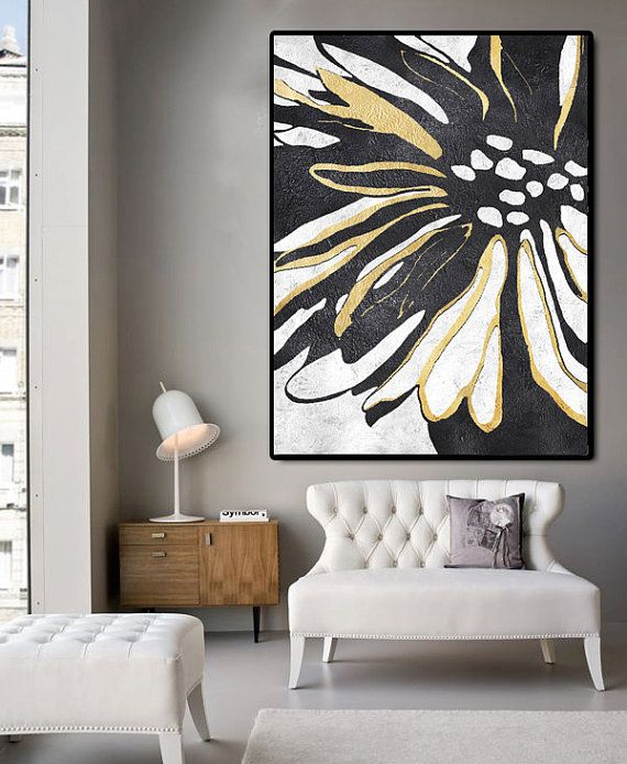 Huge Abstract Painting On Canvas Vertical Canvas by FabuArtDecor