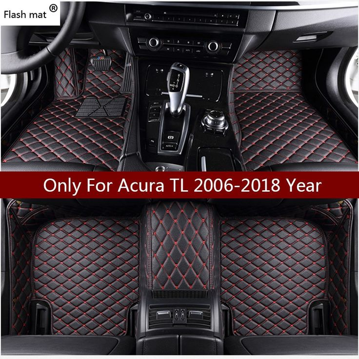 Flash Mat Leather Car Floor Mats For Acura TL 2006 2007