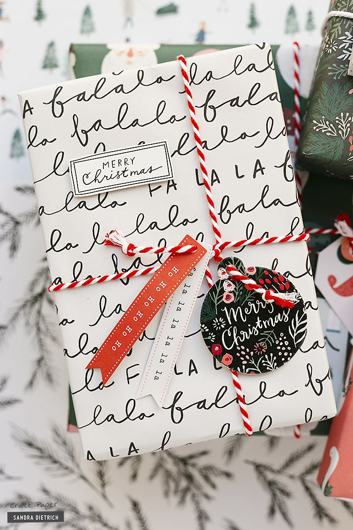 Christmas Gift Wrap 2020 CRATE PAPER | Christmas Gifts with Merry Days Gift Wrap Kit in