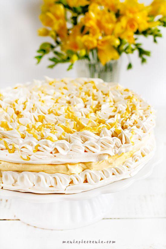 Tort cytrynowo - bezowy - Lemon meringue
