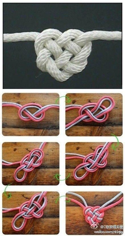 这个心形绳结叫凯尔特爱心结( Celtic Heart Knot ),真正的永结同心,是不是很浪漫?(源自网络)