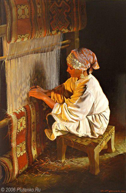 Stanislav Plutenko - A Carpet Weaver (2006)
