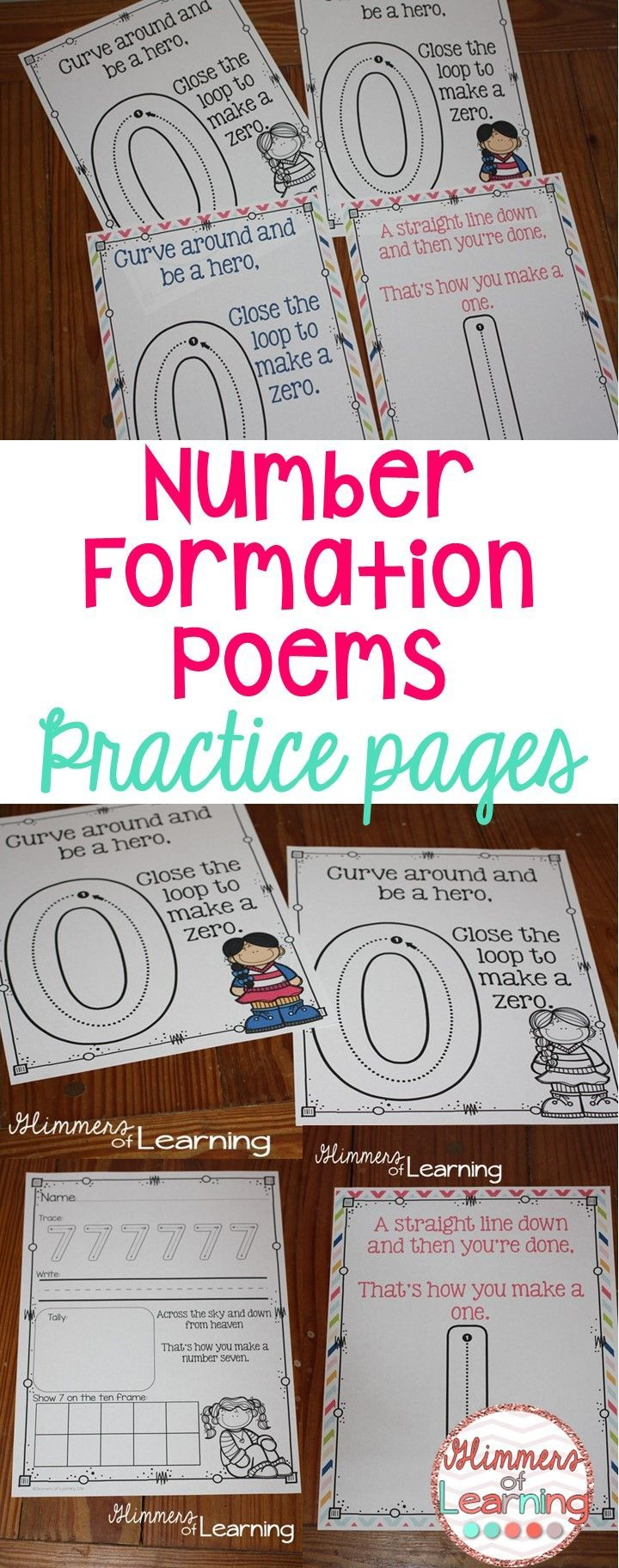 letter formation poems%0A Check out these ADORABLE number poems  They even have practice pages