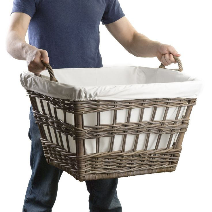 Kubu Wicker French Laundry Basket from The Basket Lady