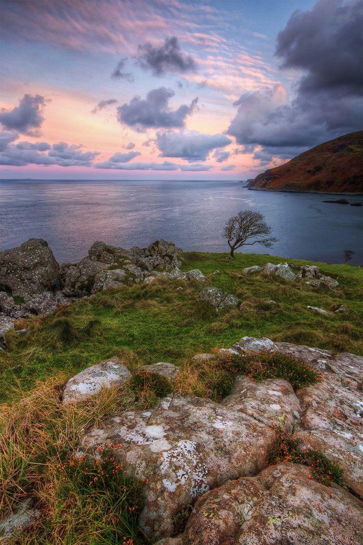 Murlough Bay Sunset, Ballyvoy, Northern Ireland ...