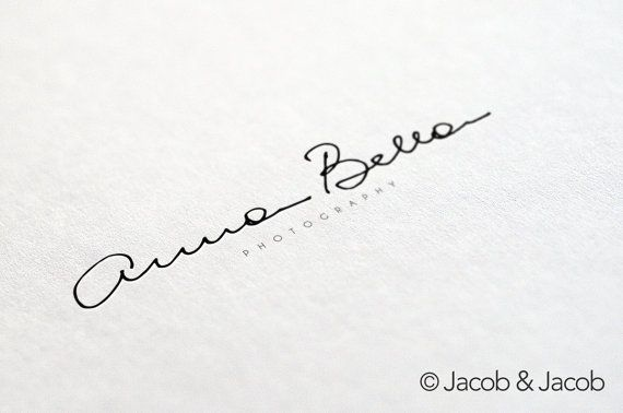Custom signature logo handwritten initials by jacobandjacobdesigns