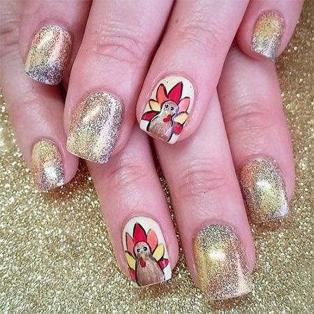 42 best turkey nail art images on pinterest autumn nails turkey nail art prinsesfo Image collections