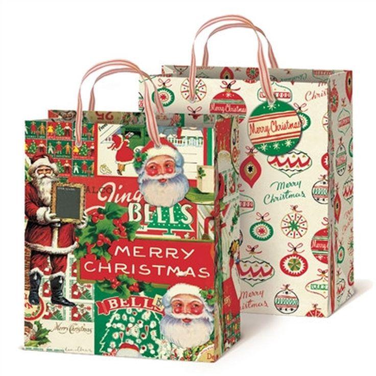 Christmas Gift Bags Part - 20: Vintage Christmas Gift Bags..784