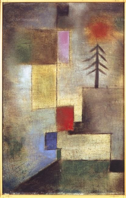 Kunstdrucke Klimt Paul Klee - Little Painting With Pine Tree. 1922 | Trees