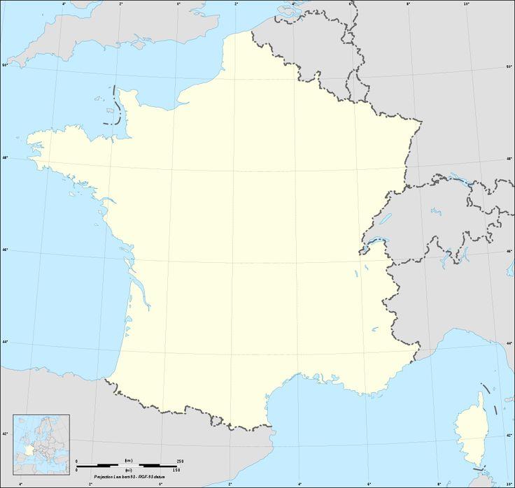 La carte de France vierge