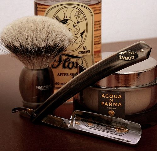 Cannot beat an old fashioned shave pure Glamourama!  Grayson Brothers