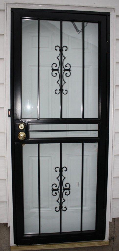 Black Metal Screen Doors 25+ best security storm doors ideas on pinterest | custom storm