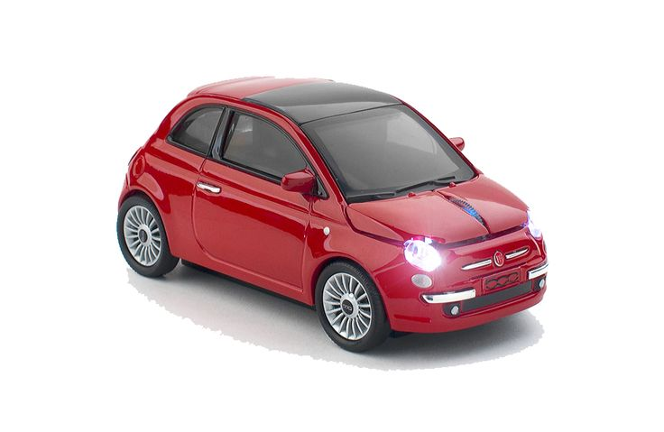 Fiat 500 New Red Wireless Mouse
