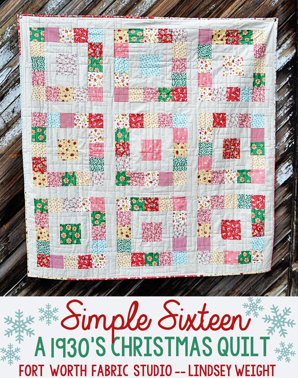 Fort Worth Fabric Studio: Simple Sixteen Free Quilt Pattern
