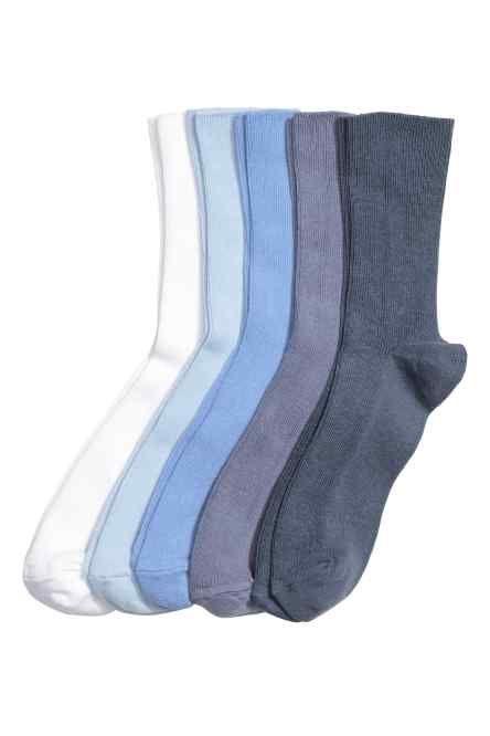 5-pack ribbed socks