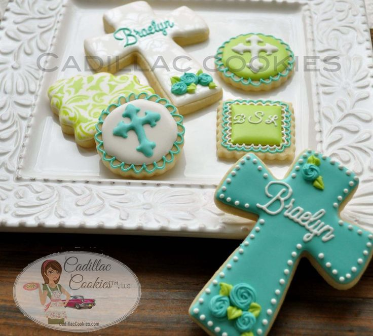 flower design for cross cookies & cookie cakes
