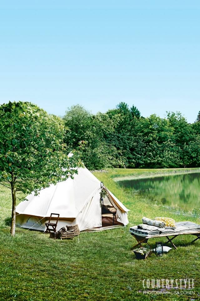 Country Style Magazine. Who's planning a weekend away? Here's some inspiration — all you need now is to find the perfect spot to pitch a tent. Photography Lisa Cohen Styling Indianna Foord #camping #weekendaway