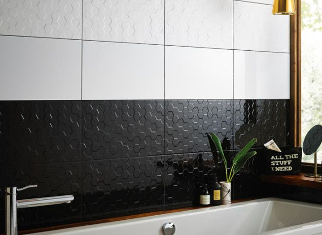 British Ceramic Tiles Form and Function Hex-white Tiles