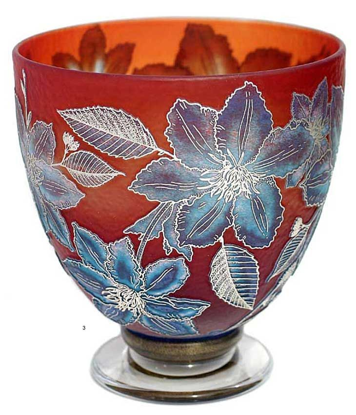 silver cameo glass vase by Jonathan Harris