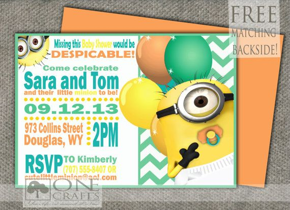 minion baby shower minion theme minion birthday themed baby showers