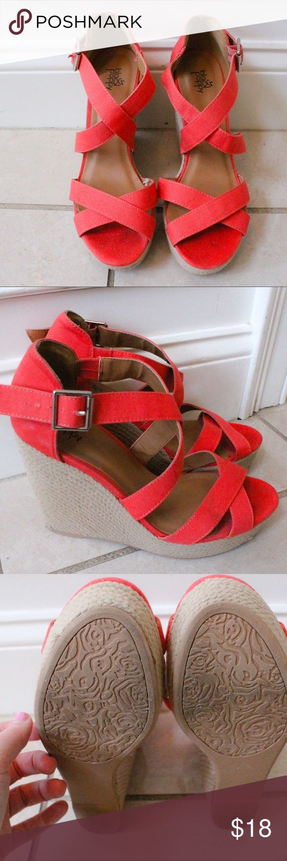 ⚡️FLASH SALE PacSun Statement Wedges LAST CHANCE DEAL 🛍🛒⏳  Clean and like-new Coral colored wedges from PacSun.  Very light scuff marks. Labeled as pink as its the closest I could get to this gorgeous Coral shade.  Only worn 1 time!!! They add awesome flair to any black going out outfit combo! ✨  -  All items cleaned before shipping. 🌻   -  Make me an offer & BUNDLE to save! 💸   -🔑 SALES TIP:  Add my mini skirt bundle & save 20%!  It'll complete the look, & also comes with a matching…
