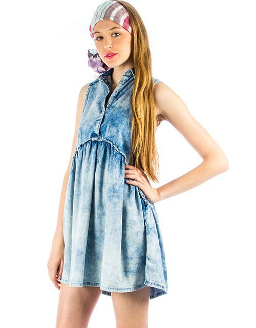 Ριχτό τζιν φόρεμα