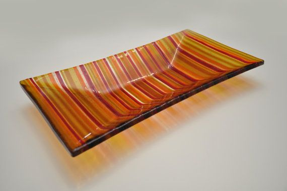 """Decorative handmade plate """"Connesione""""  by ASTGLASS,"""