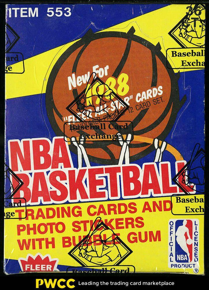 1988 fleer wax box 36ct packs jordan rodman pippen