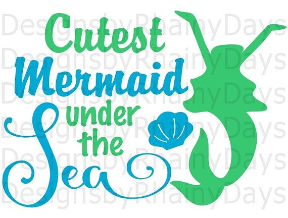 Buy 3 Get 1 Free Cutest Mermaid Under The Sea Cutting