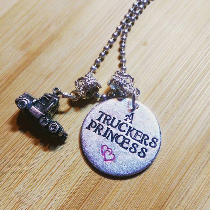 Truckers Princess -Truck Driver - Semi Truck Necklace - Trucker Necklace