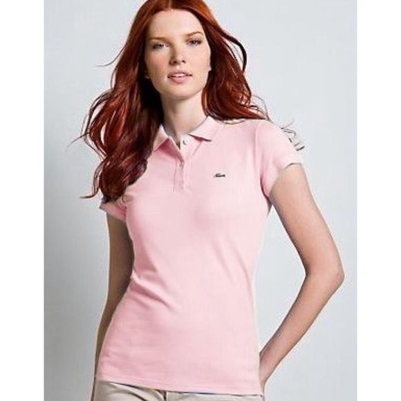 Light Pink Lacoste Polo Brand new with tags never worn Lacoste polo t shirt Lacoste Tops