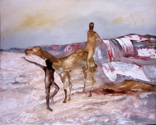 Burke and Wills Expedition, Sidney Nolan, 1964, enamel and oil on board.