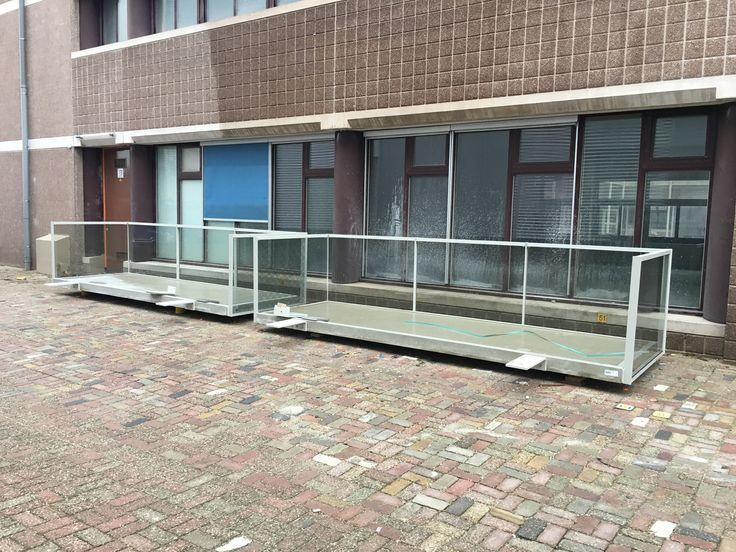 Balkons nog zonder trekstangen