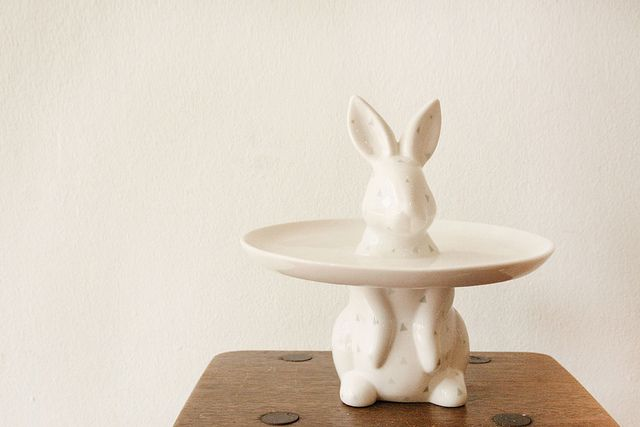 Cupcake plate - Rabbit, new at the little dröm store.