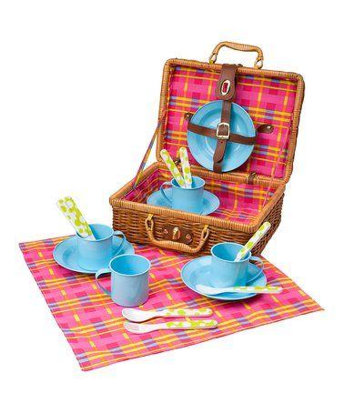 Another great find on #zulily! Picnic Basket Set #zulilyfinds