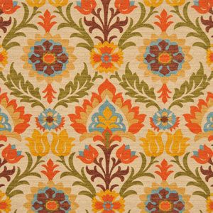 Fabric for throw pillow  Orange Ikat Upholstery Fabric by greenapplefabrics on Etsy, $49.00