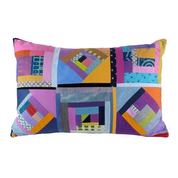 Pillow -   Created by Inger Carlsson  Created by Inger Carlsson, inspired by N. Hadjikyriakos-Ghika's cubist motifs.      Textile, 100% cotton     Dimensions: 57x34 cm
