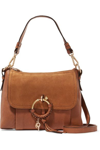 See by Chloé - Joan Small Suede-paneled Leather Shoulder Bag - Tan - one size