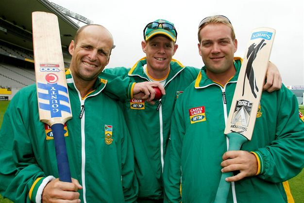March 17, 2004: Gary Kirsten, Shaun Pollock and Jacques Kallis at the SA team pratice at Eden Park in Auckland, New Zealand
