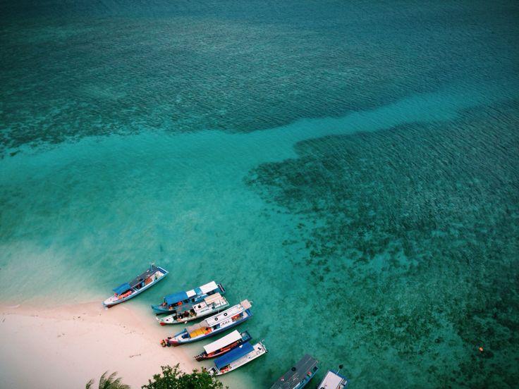 View from mercusuar of Belitung